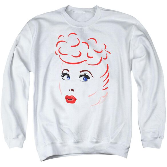 Lucy Lines Face Adult Crewneck Sweatshirt