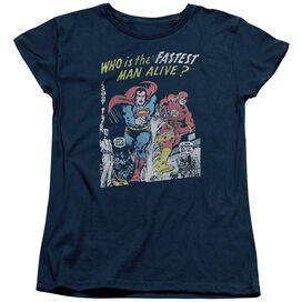 Jla Fastest Man Short Sleeve Womens Tee T-Shirt