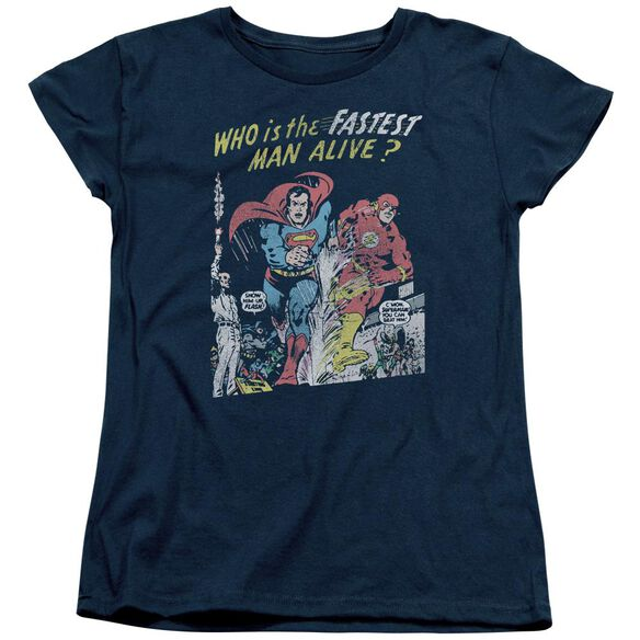 Jla Fastest Man Short Sleeve Womens Tee T-Shirt