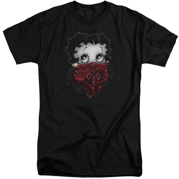 Betty Boop Bandana & Roses Short Sleeve Adult Tall T-Shirt