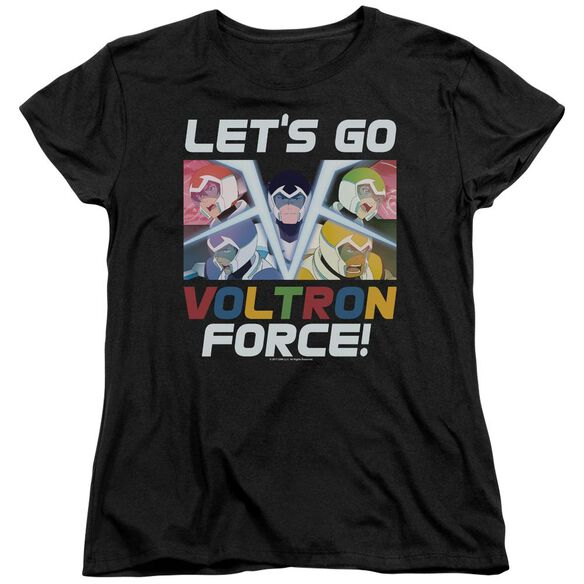 Voltron Lets Go Short Sleeve Womens Tee T-Shirt