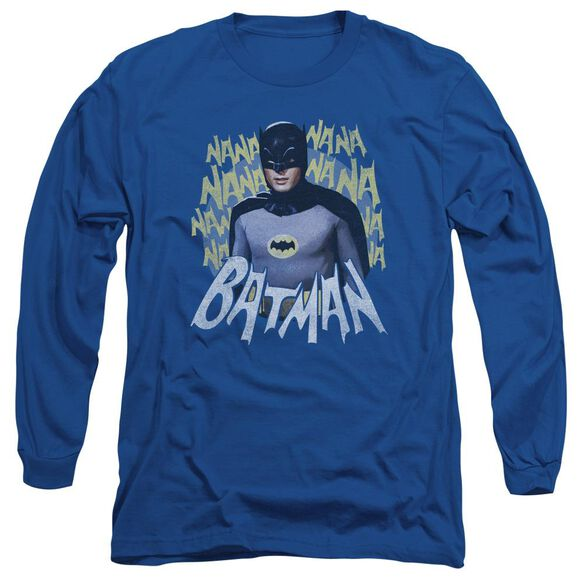 Batman Classic Tv Theme Song Long Sleeve Adult Royal T-Shirt