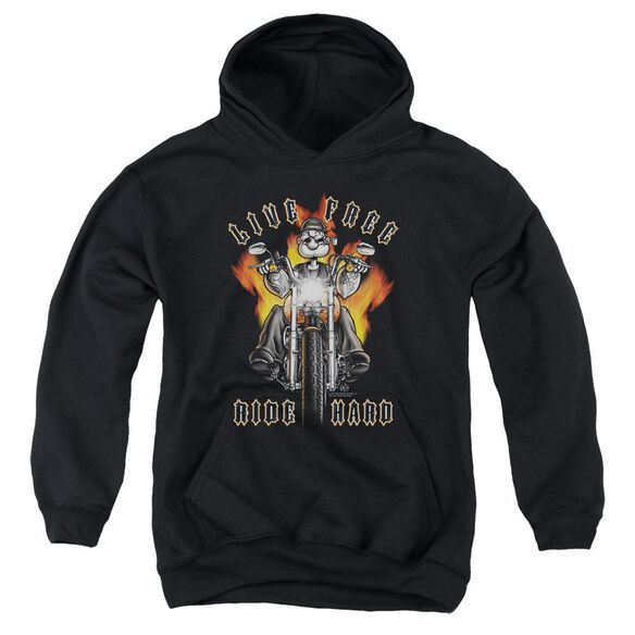 Popeye Ride Hard Youth Pull Over Hoodie
