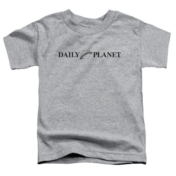 Superman Daily Planet Logo Short Sleeve Toddler Tee Athletic Heather T-Shirt