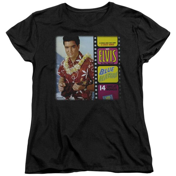 Elvis Presley Blue Hawaii Album Short Sleeve Womens Tee T-Shirt