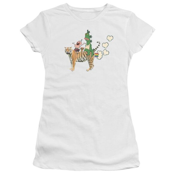 Uncle Grandpa Fart Hearts Short Sleeve Junior Sheer T-Shirt