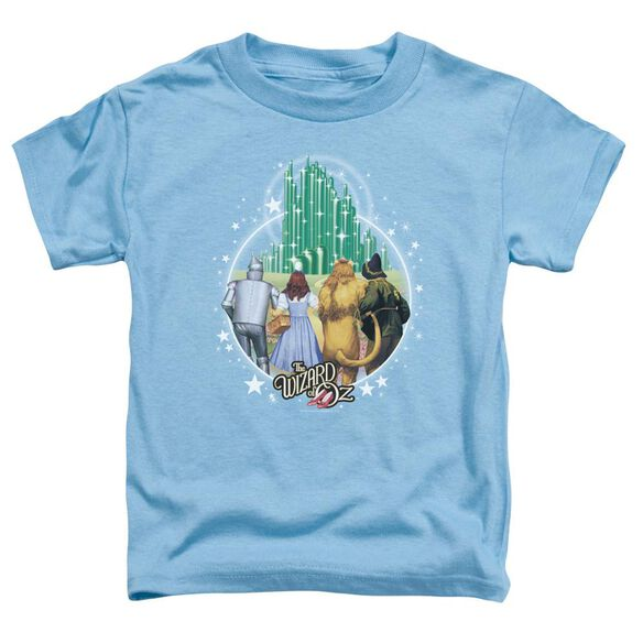 Wizard Of Oz Emerald City Short Sleeve Toddler Tee Carolina Blue T-Shirt