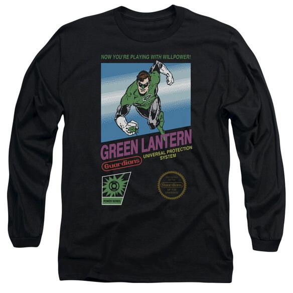 Green Lantern Box Art Long Sleeve Adult T-Shirt