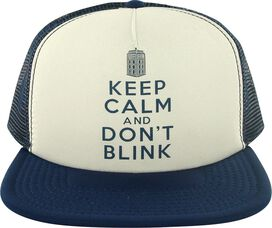 Doctor Who Keep Calm Don't Blink Trucker Hat