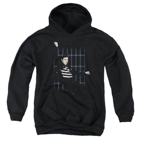 Elvis Blue Bars Youth Pull Over Hoodie