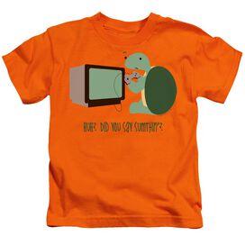 Did You Say Sumthin? Short Sleeve Juvenile Orange T-Shirt