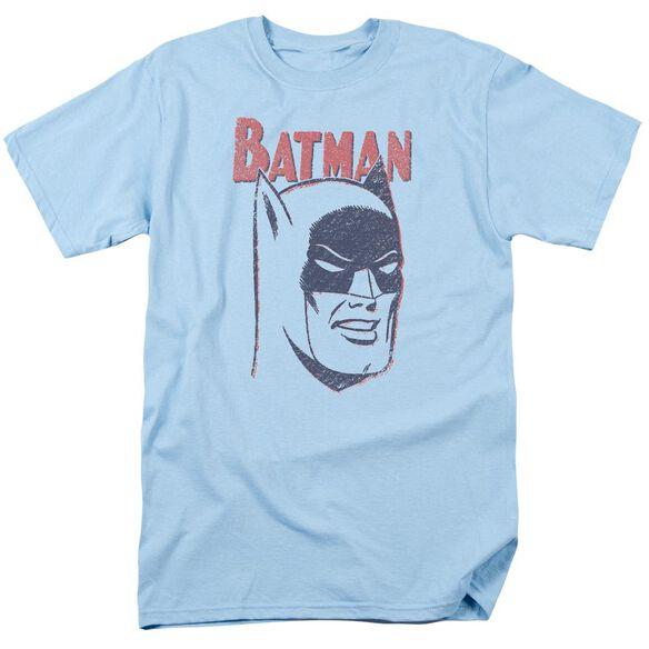 Batman Crayon Man Short Sleeve Adult Light Blue T-Shirt