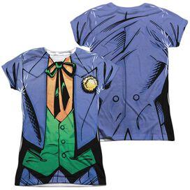 Batman Joker Uniform (Front Back Print) Short Sleeve Junior Poly Crew T-Shirt