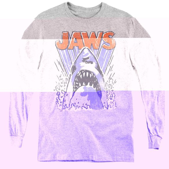 Jaws Comic Splash-youth Long Sleeve