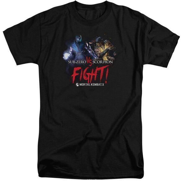 Mortal Kombat Fight Short Sleeve Adult Tall T-Shirt