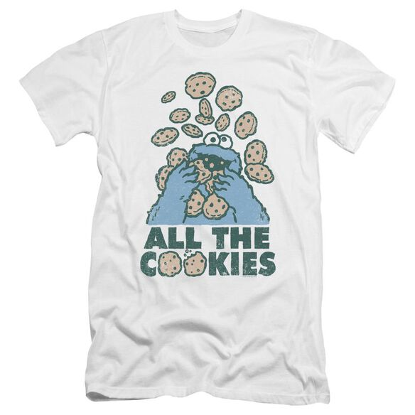 Sesame Street All The Cookies Premuim Canvas Adult Slim Fit