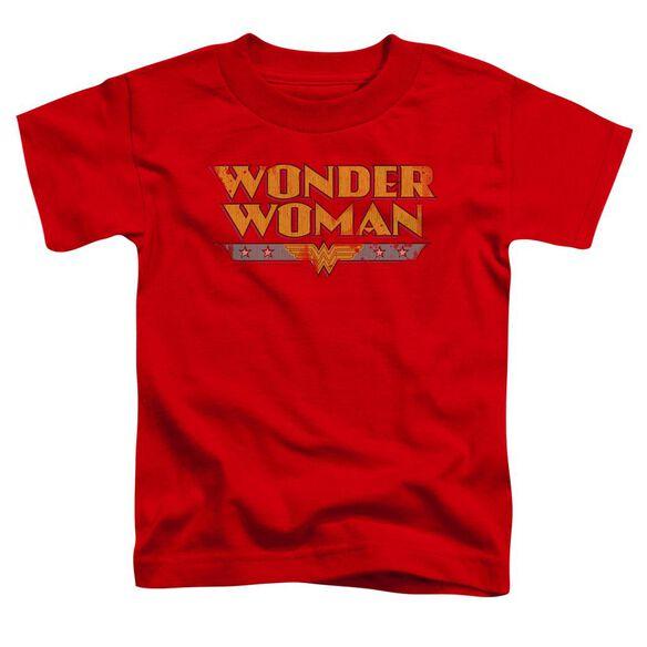 Dc Wonder Woman Logo Short Sleeve Toddler Tee Red Sm T-Shirt