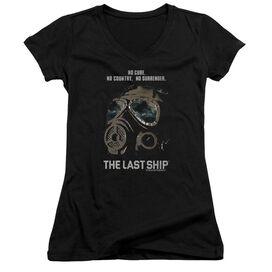 Last Ship Mask Junior V Neck T-Shirt