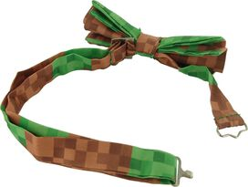 Pixel Brick Green Brown Bow Tie