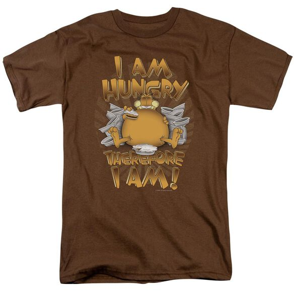 GARFIELD THEREFORE I AM - S/S ADULT 18/1 - COFFEE T-Shirt