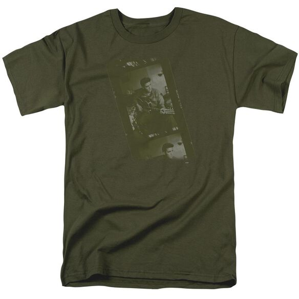 Elvis Army Short Sleeve Adult Military Green T-Shirt