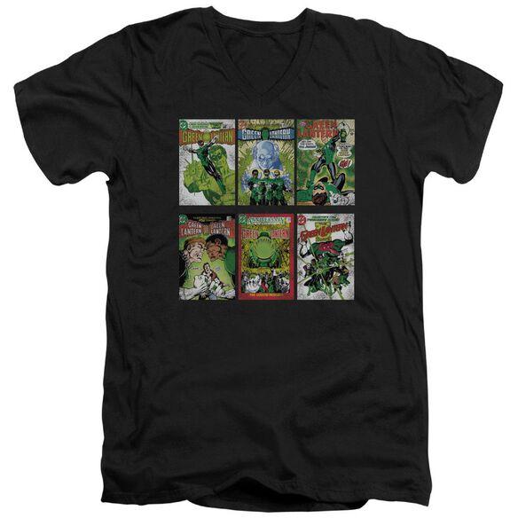 Green Lantern Gl Covers Short Sleeve Adult V Neck T-Shirt