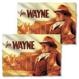 John Wayne Old West (Front Back Print) Pillow Case