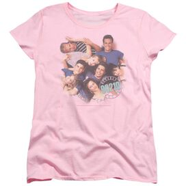 90210 Gang In Logo Short Sleeve Womens Tee Pink T-Shirt