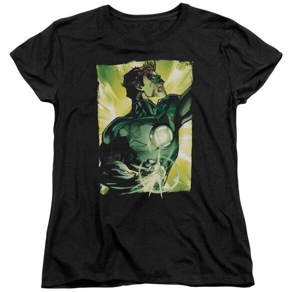 Green Lantern Up Up Short Sleeve Womens Tee T-Shirt