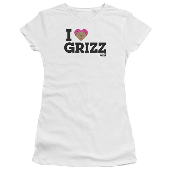 We Bare Bears Heart Grizz Hbo Short Sleeve Junior Sheer T-Shirt