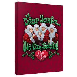 I Love Lucy Dear Santa Quickpro Artwrap Back Board