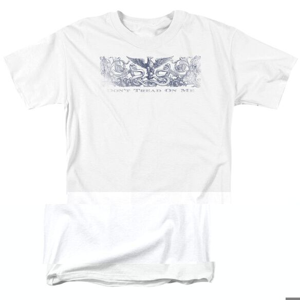 DONT TREAD ON ME - ADULT 18/1 - WHITE T-Shirt
