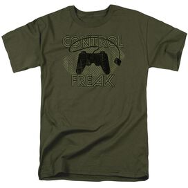 Control Freak Short Sleeve Adult Military Green T-Shirt