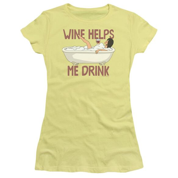 Bobs Burgers Wine Helps Premium Bella Junior Sheer Jersey