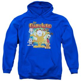 Garfield The Garfield Show Adult Pull Over Hoodie Royal