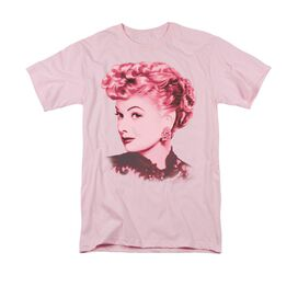 I Love Lucy Beautiful Short Sleeve Adult Pink T-Shirt