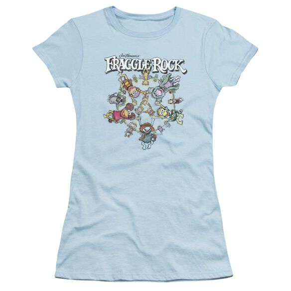 Fraggle Rock Spinning Gang Short Sleeve Junior Sheer Light T-Shirt