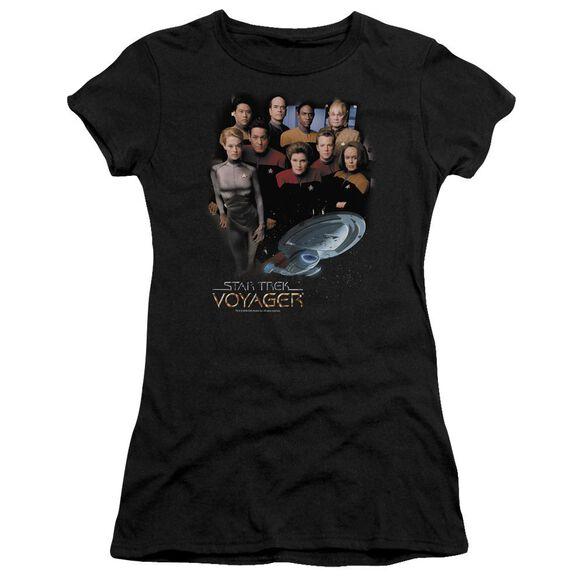 Star Trek Voyager Crew Short Sleeve Junior Sheer T-Shirt