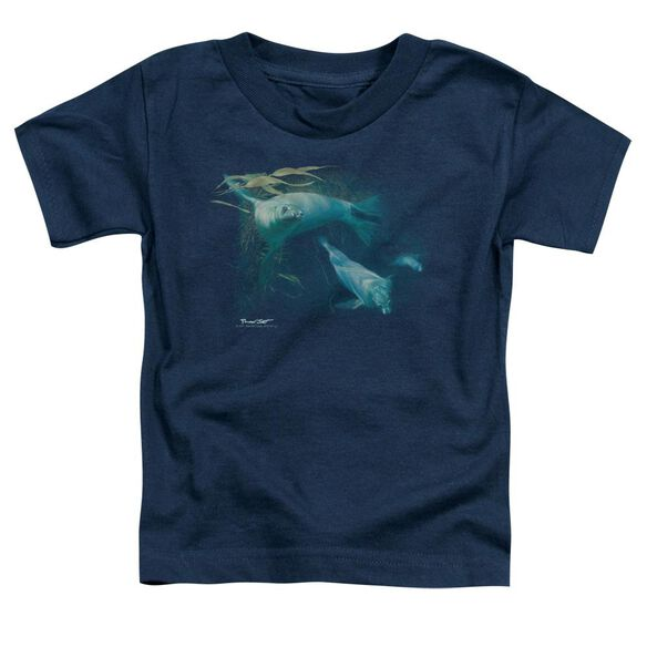 Wildlife Kelp Patrol Short Sleeve Toddler Tee Navy T-Shirt