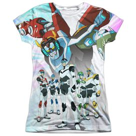 Voltron Team Short Sleeve Junior Poly Crew T-Shirt