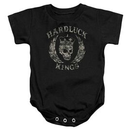Hardluck Kings Camo Logo Infant Snapsuit Black