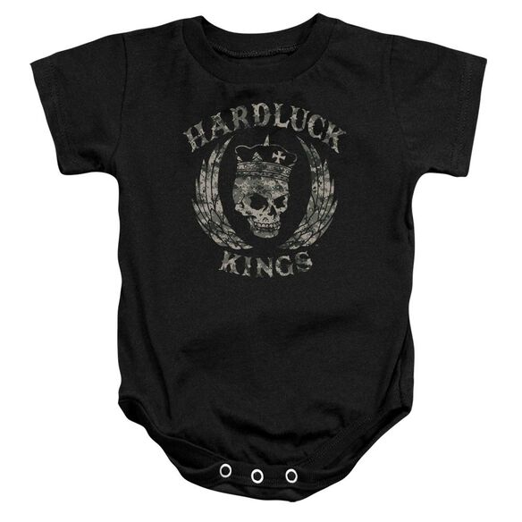 Hardluck Kings Camo Logo Infant Snapsuit Black