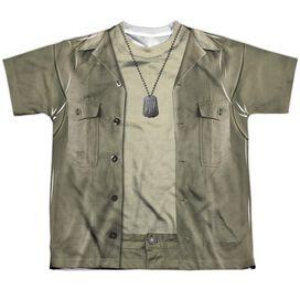 Mash Hawkeye Costume Short Sleeve Youth Poly Crew T-Shirt