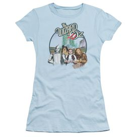 Wizard Of Oz We're Off To See Wizard Short Sleeve Junior Sheer Light T-Shirt