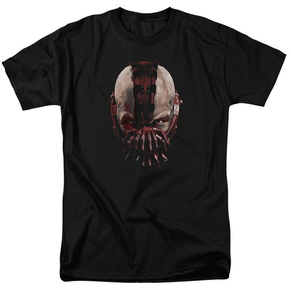Dark Knight Rises Bane Mask Short Sleeve Adult Black T-Shirt