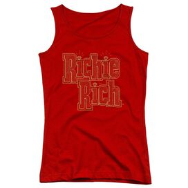 Richie Rich Stacked Juniors Tank Top