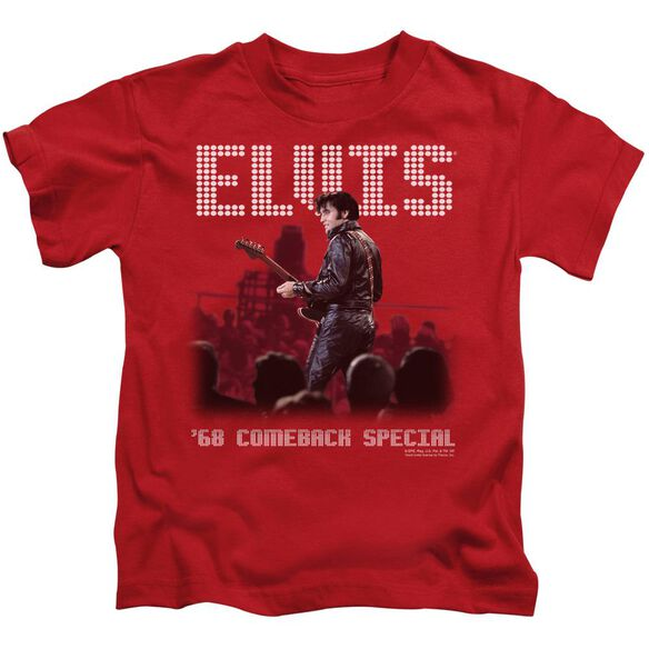Elvis Return Of The King Short Sleeve Juvenile Red T-Shirt