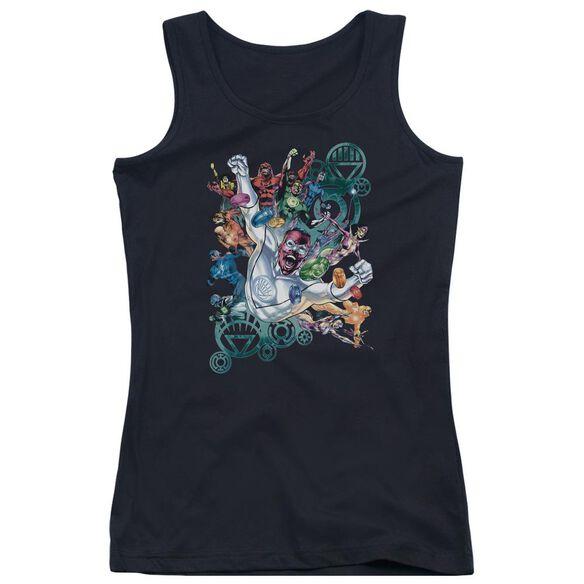 Green Lantern Lanterns Unite - Juniors Tank Top - Black