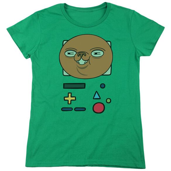 Adventure Time Bmo Mask Short Sleeve Womens Tee Kelly T-Shirt