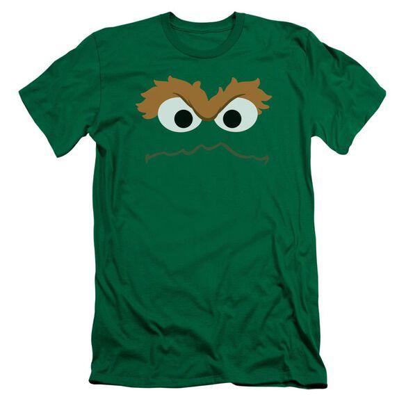 Sesame Street Oscar Face Hbo Short Sleeve Adult Kelly T-Shirt